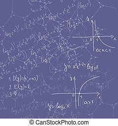 Abstract Background with mathematical formulas,...