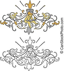 coat of arms with cherub - Interpretation of coat of arms...