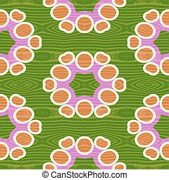 ornamental pattern - Orange pink white green ornamental...