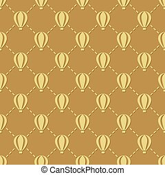 hot-air balloon seamless pattern