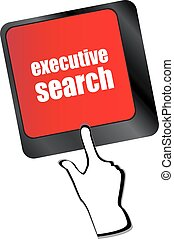 executive search button on the keyboard close-up, raster vector