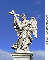 Rome, Aelian Bridge with angel, Italy