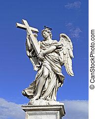 Rome, Aelian Bridge with angel, Italy
