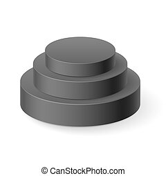 Cylinder pyramid - Black cylinder pyramid isolated on white...