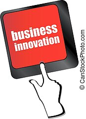 business innovation - business concepts on computer keyboard, business concept vector