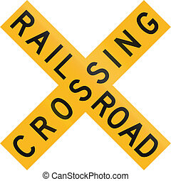 Railroad Crossing in Botswana - Old version of the Railway...