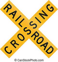 Railroad Crossing in Botswana - Old version of the Railway...