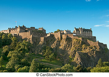 Edinburgh Castle, Scotland, UK - Edinburgh Castle on a clear...
