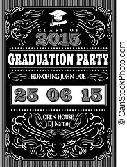 template for the posters to graduate party - vector template...