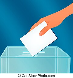 Election container - The ballot box, vector art illustration...