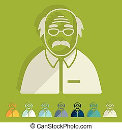 Flat design: senior citizens