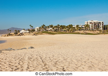 Beach in Cabo San Lucas, Mexico - Luxury resort living on...