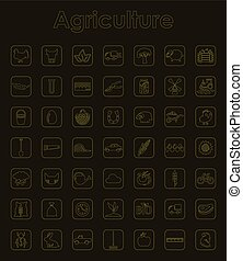 Set of agriculture simple icons - It is a set of agriculture...