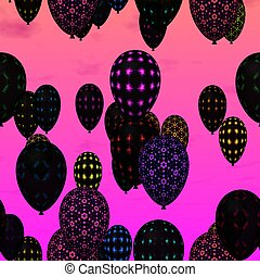 air party balloons - Black air party balloons decorated with...