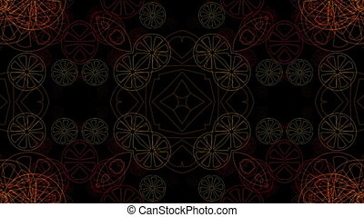 Red shimmering circles on a black background
