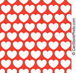 Repeatable heart pattern, heart background Eps 10 vector