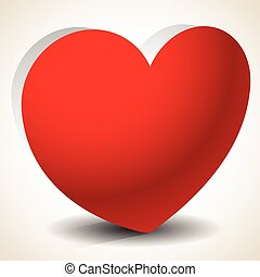 3d heart shape isolated Eps 10 vector graphics with...