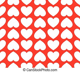 Repeatable heart pattern, heart background, vector graphics
