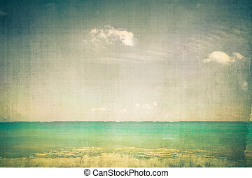Retro Ocean - Ocean with vintage texture effect