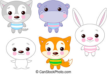 Cute animal set 03