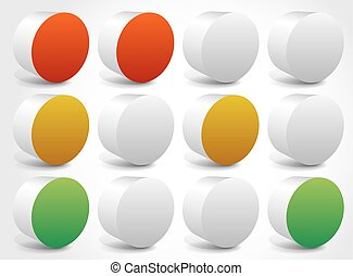 Set of abstract traffic lights, traffic lamps vector