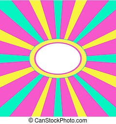 Pink green yellow radiant frame - Crazy pink green yellow...