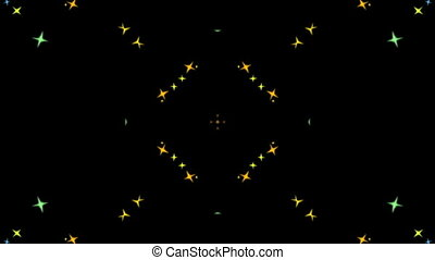 Multicolored flying stars