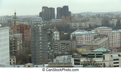 City landscape. Top view of high-rise buildings - City...