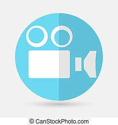 Camcorder Camera icon on a white background - Camcorder...