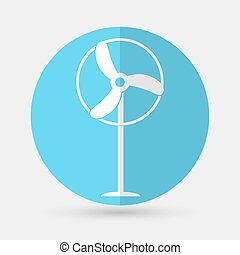 Wind Turbine icon  on a white background