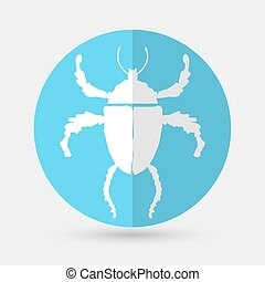 bug icon on a white background - vector illustration of bug