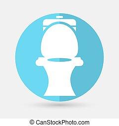 Toilet symbol on a white background