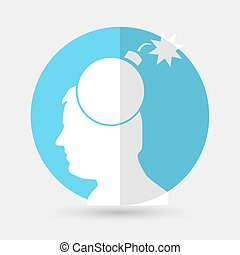 Gear head icon on a white background
