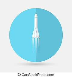 Rocket icon on a white background - Rocket icon
