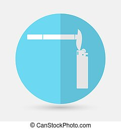 Cigarette icon on a white background