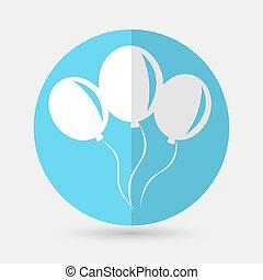 balloon icon on a white background