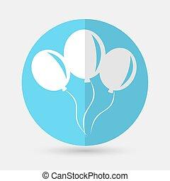 balloon icon on a white background