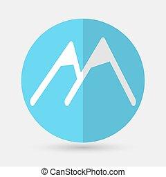 Mountain icon on a white background - Mountain icon