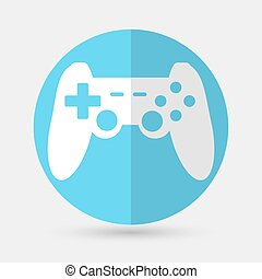 game joypad icon on a white background - game joypad icon