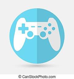 game joypad icon on a white background - game joypad icon