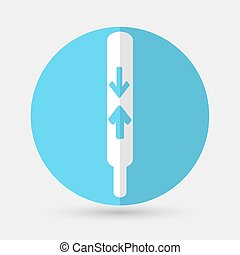 thermometer icon on a white background - thermometer icon