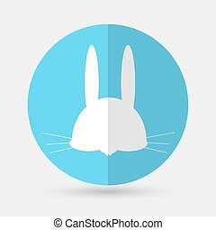 hare icon on a white background
