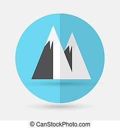 Mountain icon on a white background - Mountain icon