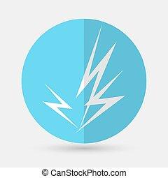 lightning icon on a white background - lightning icon