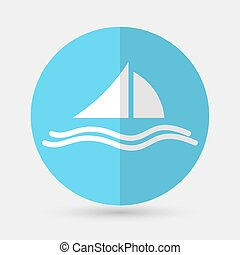 Yacht Icon on a white background