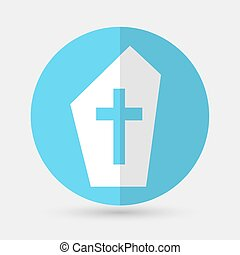 grave icon on a white background