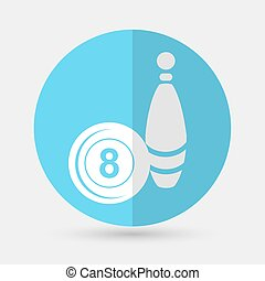 bowling icon on a white background - bowling icon