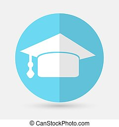 Graduation cap icon on a white background