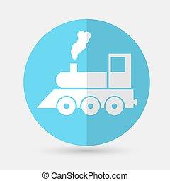 Train Icon on a white background - Train Icon