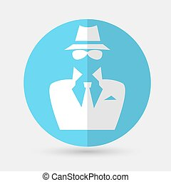 spy icon on a white background - spy icon